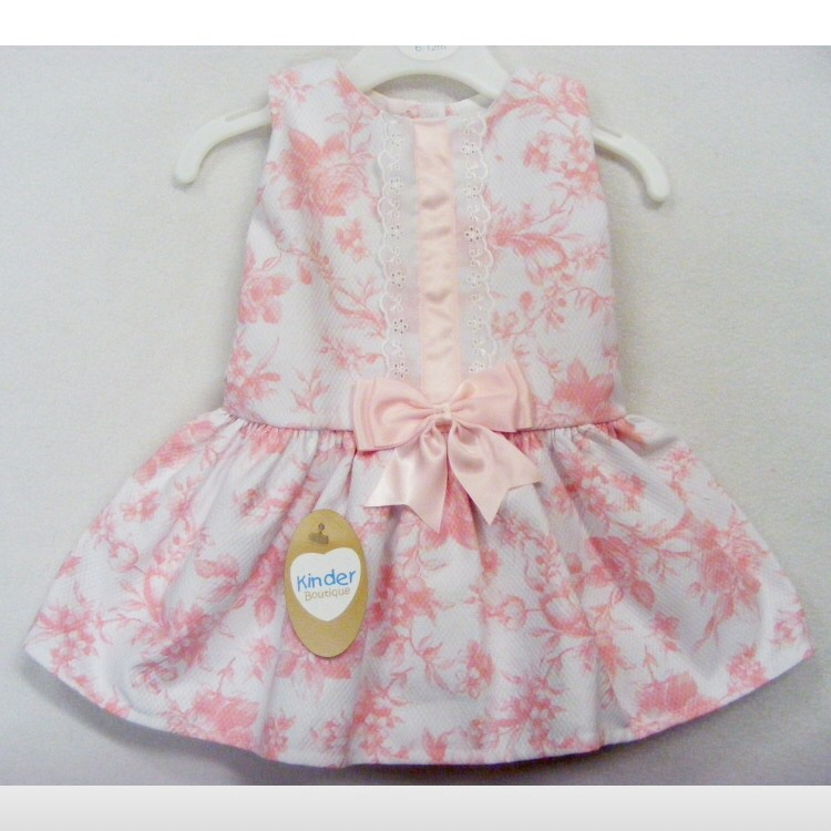 sports shoes bae65 ebbe5 Pink kinder ribbon dress baby girl spanish outfit... - Depop