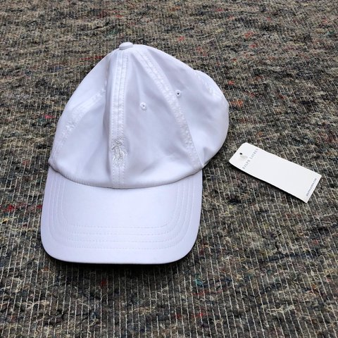a1e6a34b90808 Polo Ralph Lauren white golf cap Brand new with tags Dad - Depop