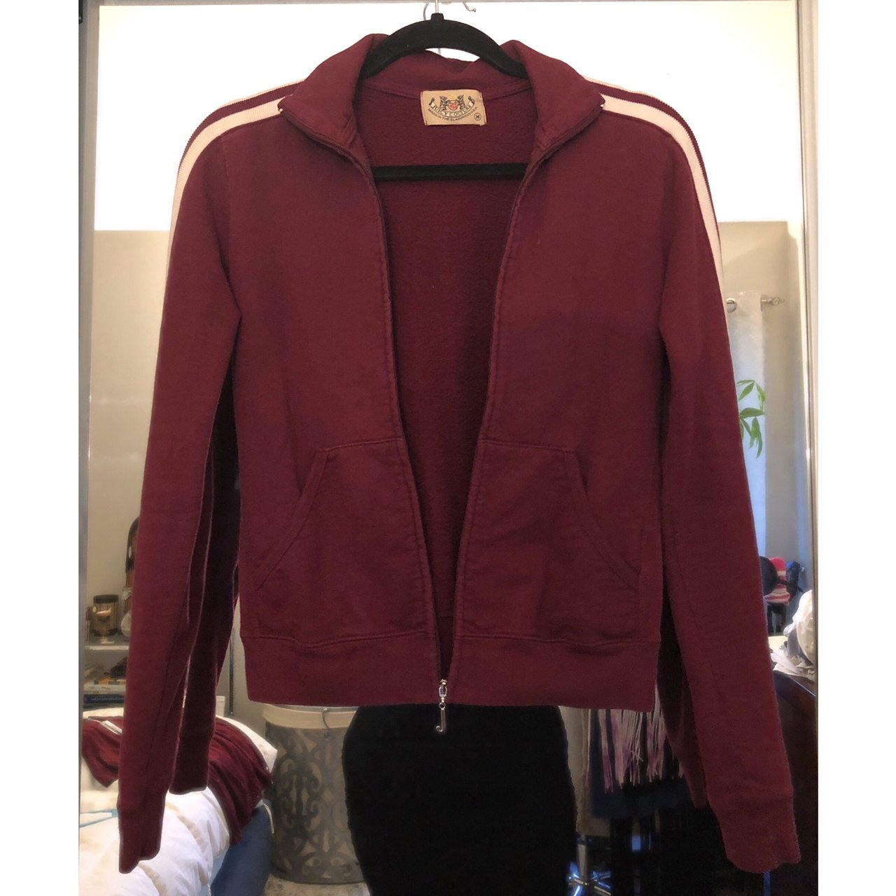 21e2336f9dc4 Burgundy Juicy Couture Sport Jacket M - Depop