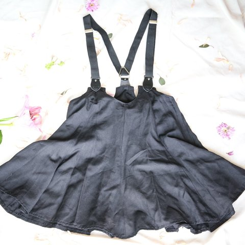 f7fb82043 Black vintage late 80s/early 90s suspender skirt. Perfect a - Depop