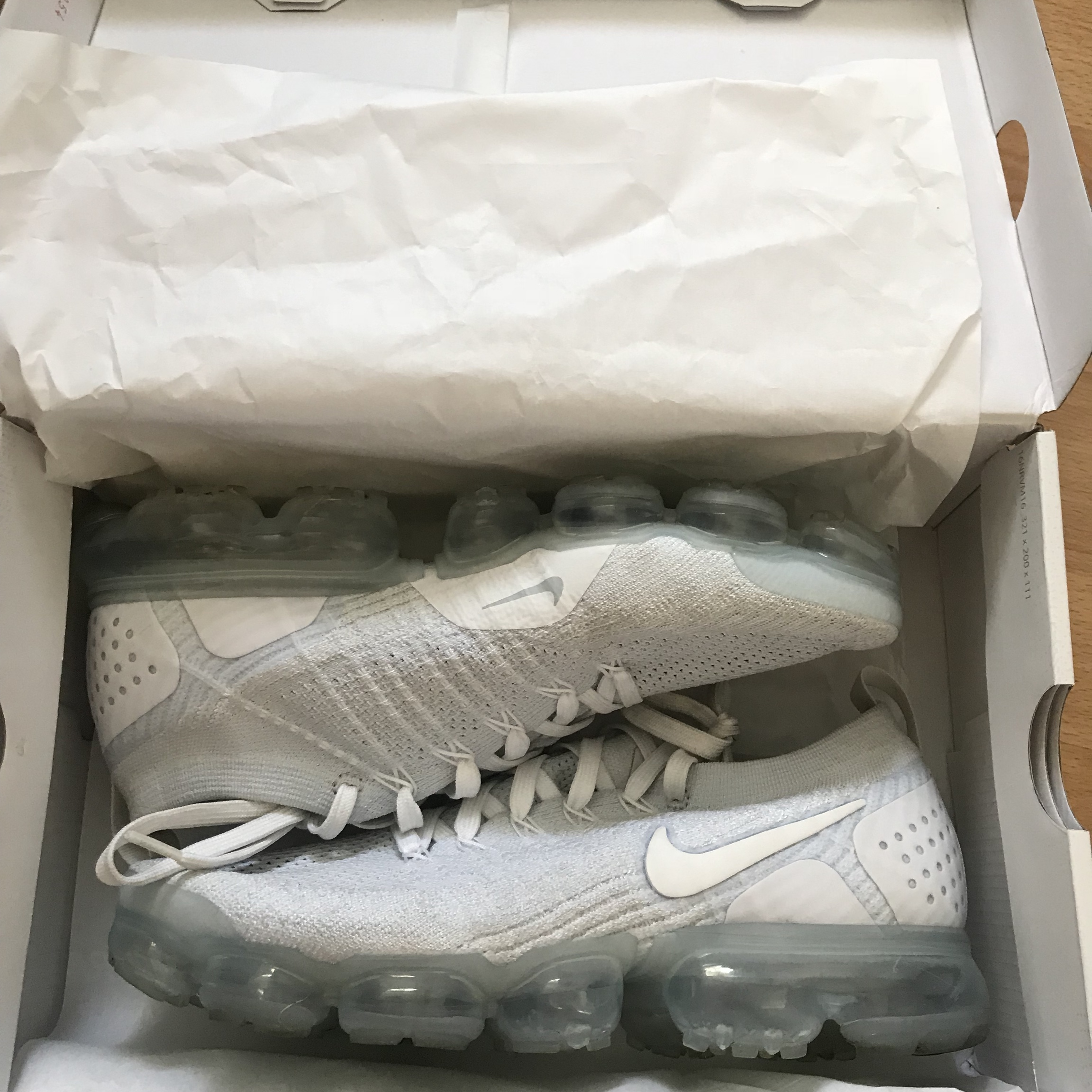 new product 637a5 b3dbf NIKE VAPORMAX FLYKNIT 2 ALL WHITE WITH BOX FROM JD... - Depop