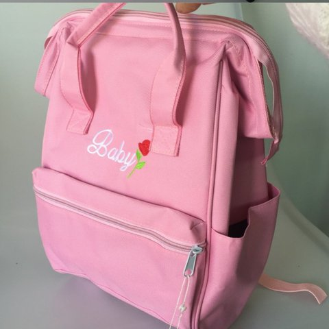 50a4846d2e80 adorable pink baby kanken shaped backpack