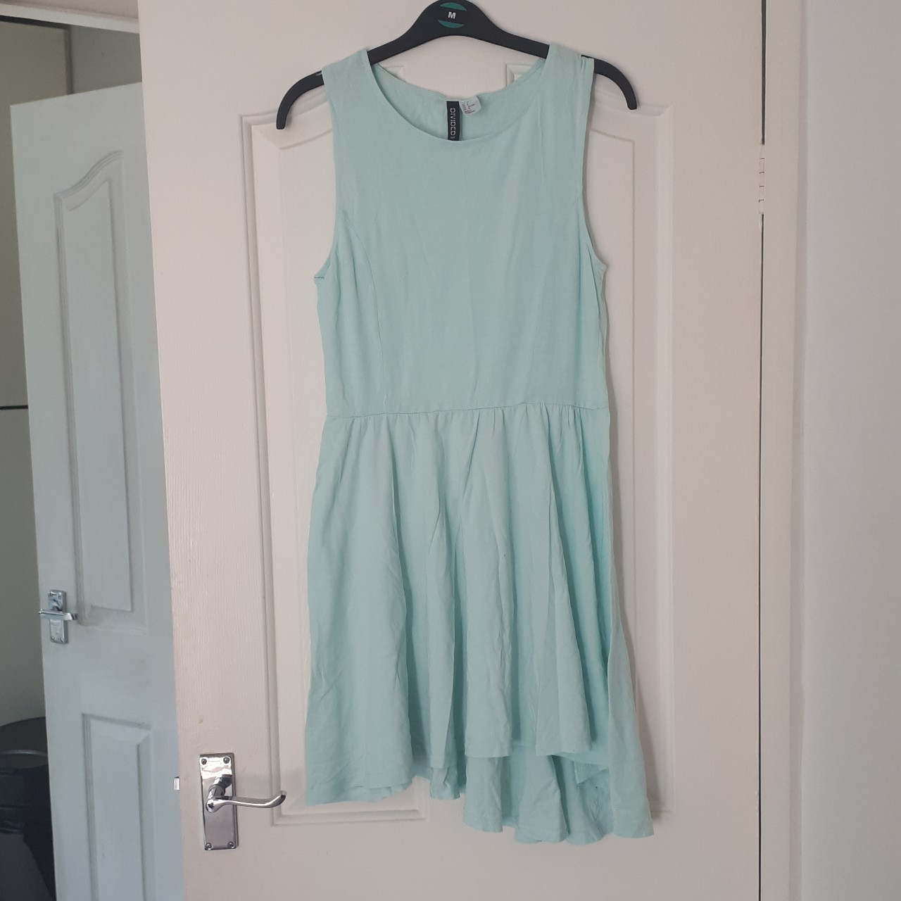 Mint green Divided H&M summer dress with angled Depop