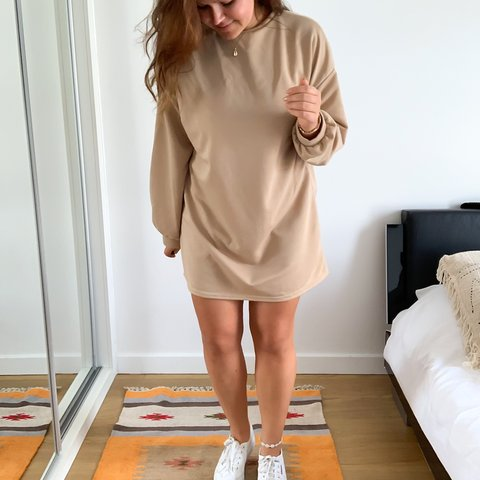 6c779f3187 Beautiful oversized sweater dress in camel colour (obsessed - Depop
