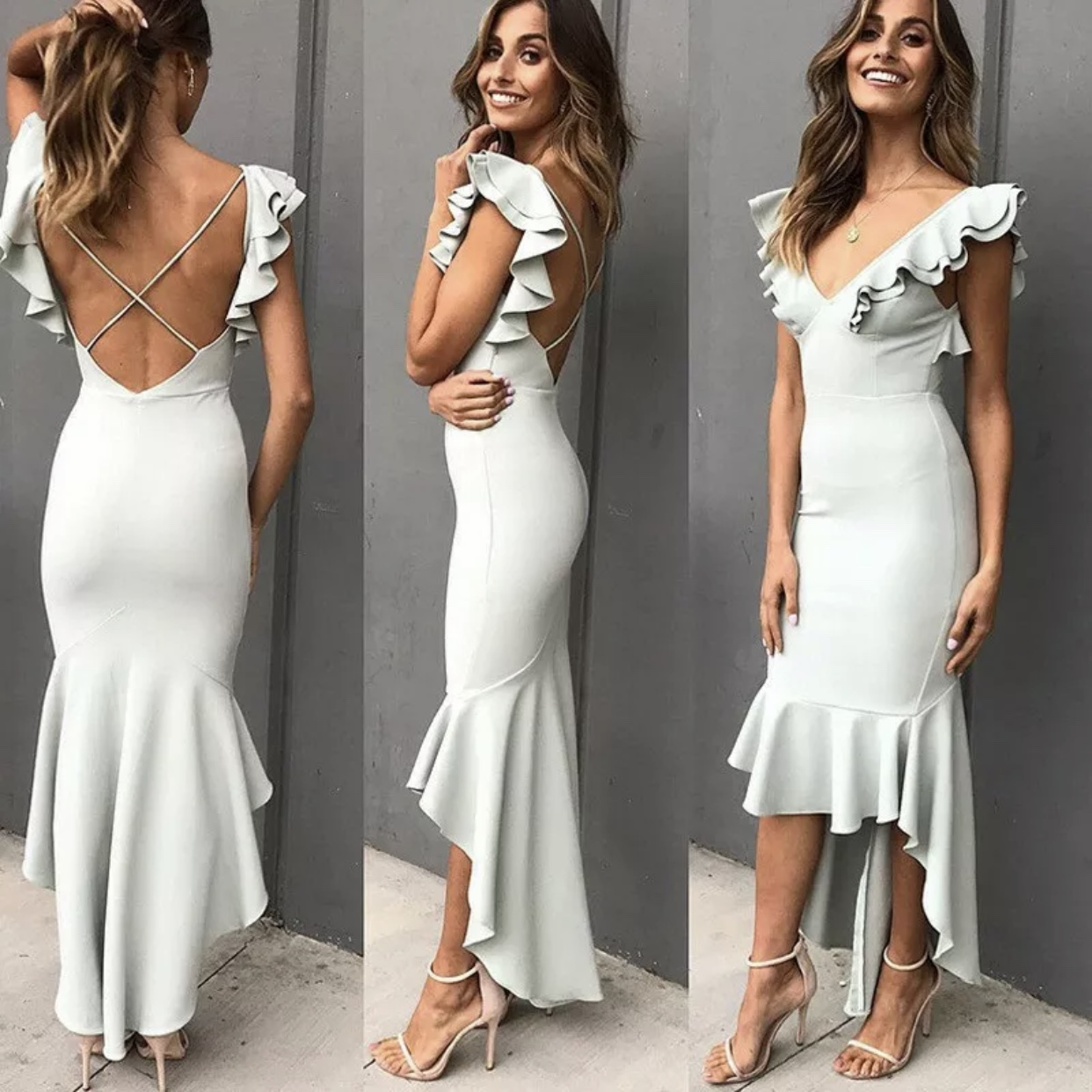 Perfect wedding guest dress, backless