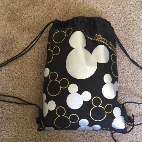 151a896b1e8 mickey mouse drawstring bag from disneyland! Black