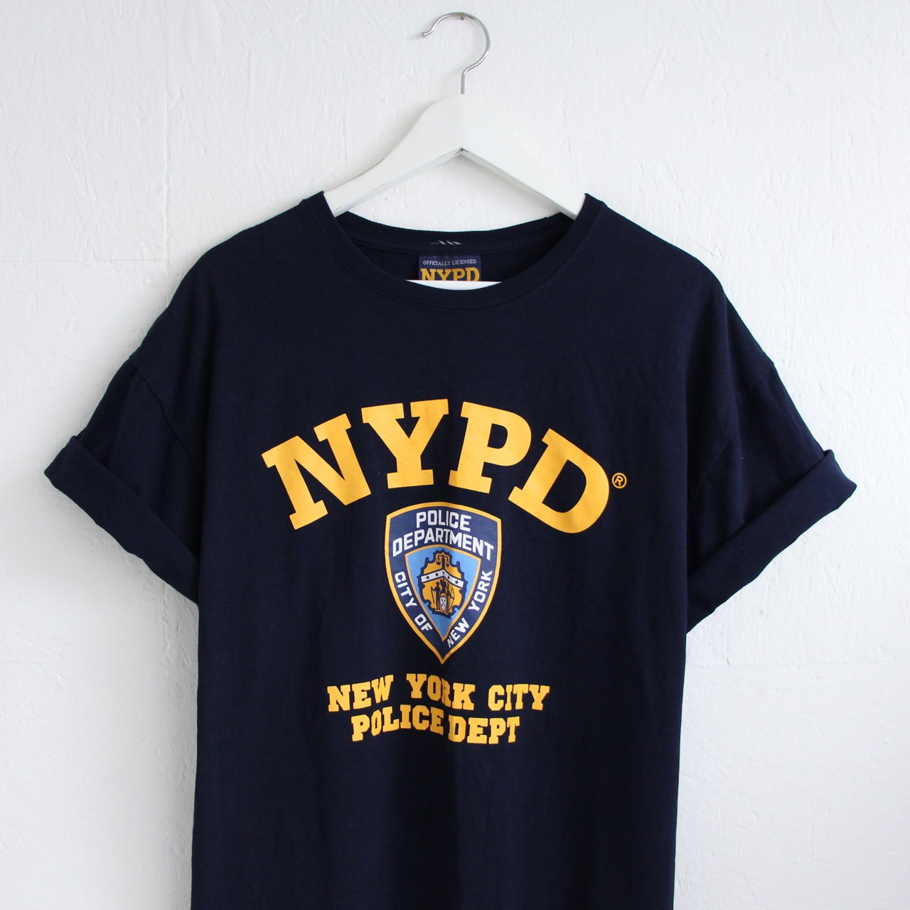 0a681dd22 Vintage retro 90s dark navy NYPD tshirt • men's XL • great • - Depop