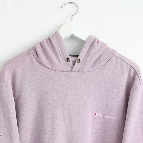 fbe8448e2deb @nostalgia_ultra. 2 years ago. United Kingdom. Vintage retro 90s pale pink  textured Champion hoodie ...