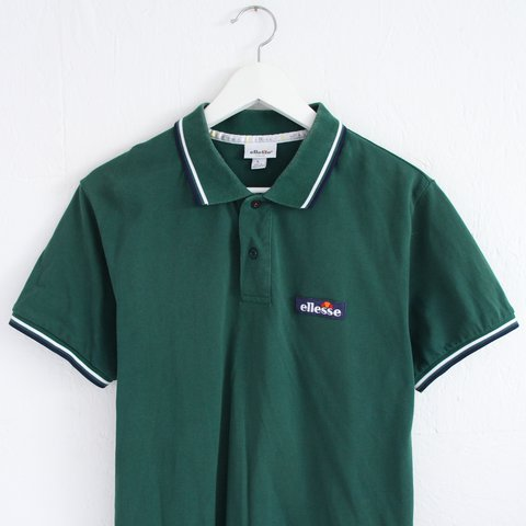 43ccc8e1 @nostalgia_ultra. 2 years ago. United Kingdom. Vintage retro 90s dark green  Ellesse polo shirt ...