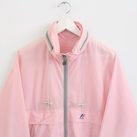 fb44c218cc1f  nostalgia ultra. 8 months ago. United Kingdom. Vintage retro 80s 90s pale  light pink K-Way jacket ...