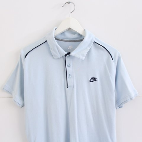 4fe53ad9 @nostalgia_ultra. 2 months ago. United Kingdom. Vintage retro 90s pale  light pastel blue Nike polo shirt tshirt • men's ...