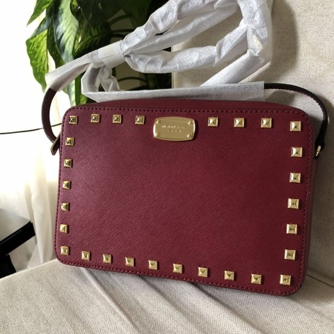 d2141fc7191a Brand new with tags. $228. Deep Red Michael Kors crossbody - Depop