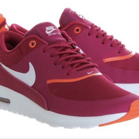 e1f8d57c52 😍Nike air Max Thea 💕purple with orange detail 🤠will be - Depop