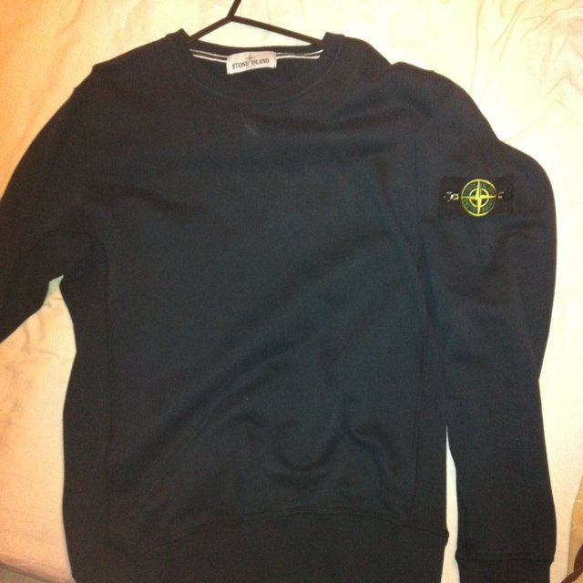 408590747887 Authentic stone island navy blue jumper bought from cruise a - Depop