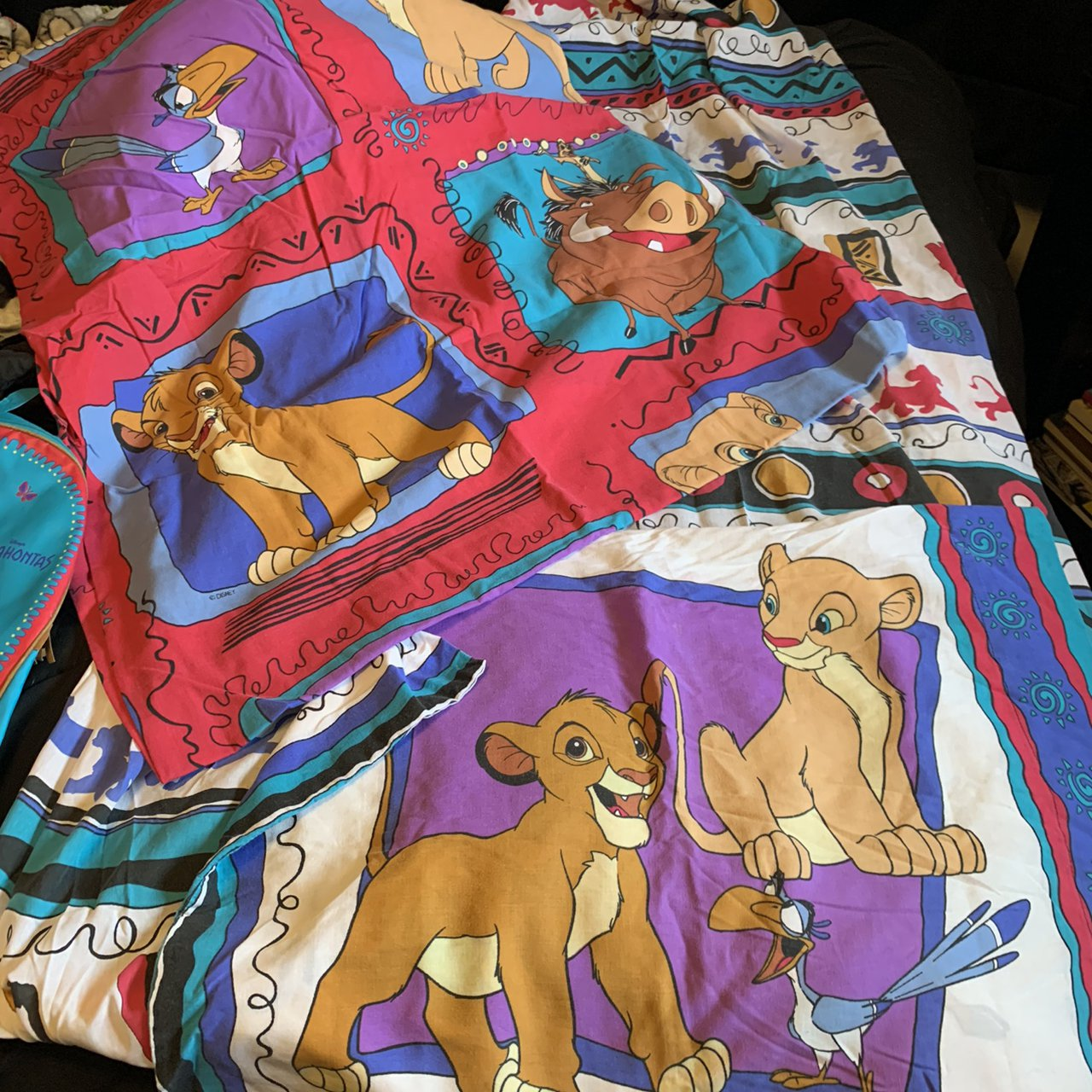 Picture of: Price Drop Amazing Vintage Lion King Twin Depop