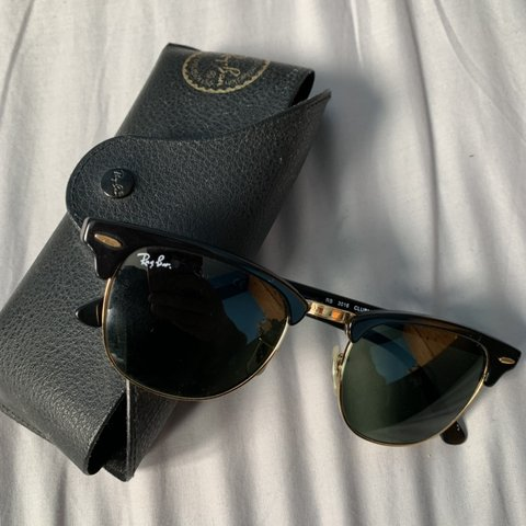8f0034fb51f RAYBAN CLUBMASTER SUNGLASSES 😎 100% AUTHENTIC NO WITH - Depop