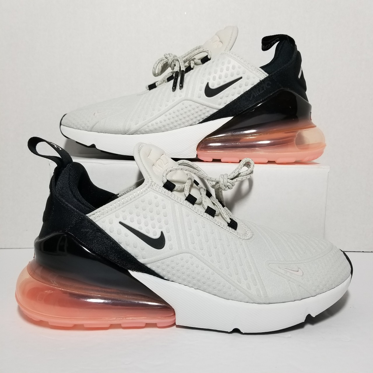Details about New Nike Air Max 270 SE Women's Light Bone Storm Pink Black AR0499 002 Size 12