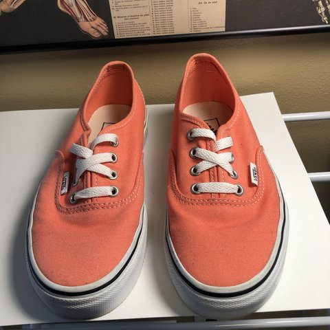 "56c0fd1441  maya led. 3 hours ago. United States. ""Vans Authentic Fusion Coral Sneakers """