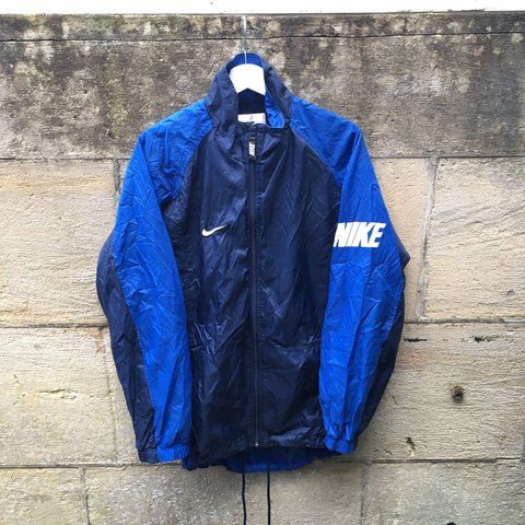 Vintage   Retro Nike Windbreaker Full Zip Jacket (2) Size - Depop c8abccea8