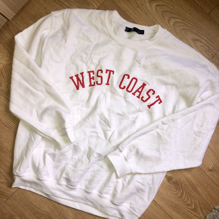 coupon code pretty cool reputable site Missguided white west coast logo sweatshirt jumper.... - Depop