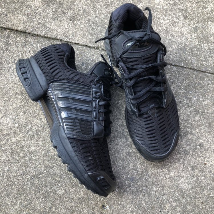 All black Adidas climacool trainers. Great condition...