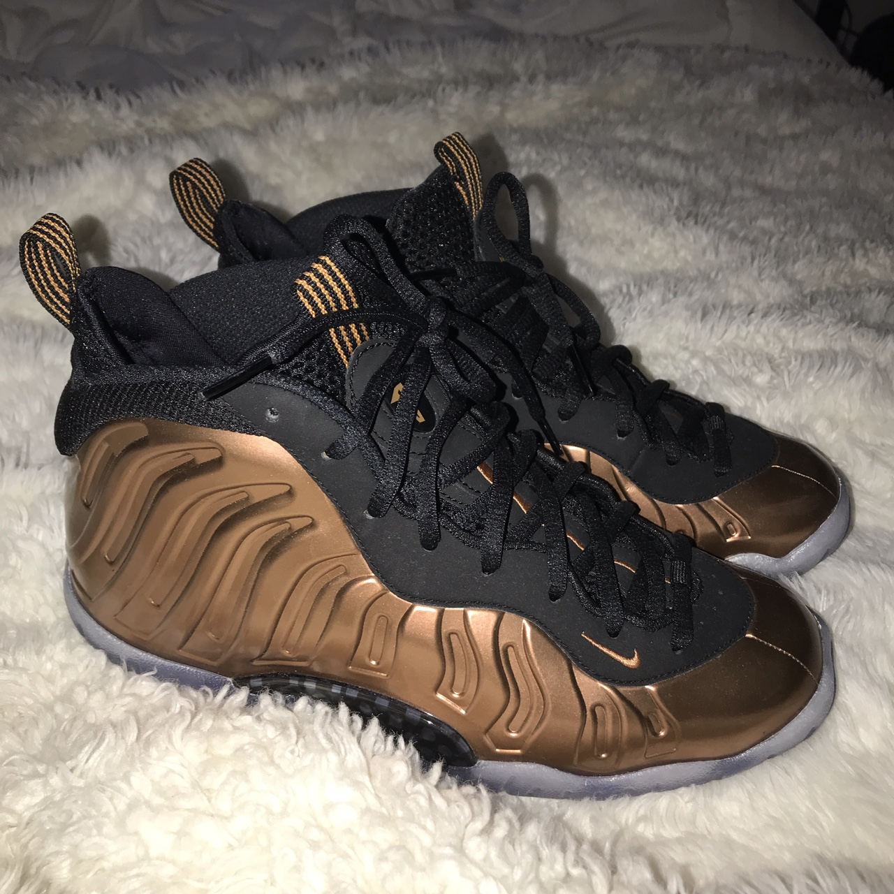 new styles 8786a 6c20a Rose gold Nike foamposites. Perfect condition, no... - Depop