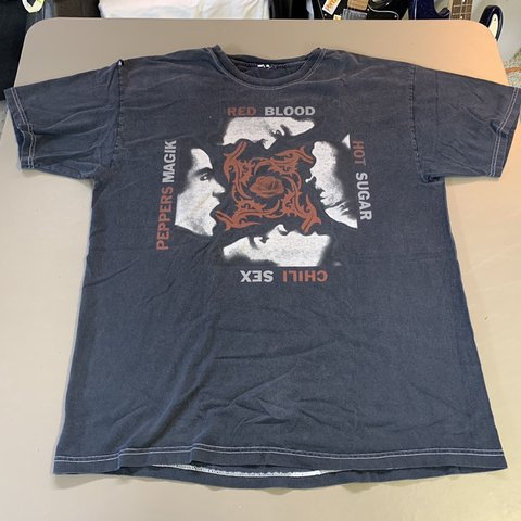 c2b233ce @whenitscold. 2 months ago. Hansville, United States. VTG 90s Red Hot Chili  Peppers Blood Sugar Sex Magick T-shirt.