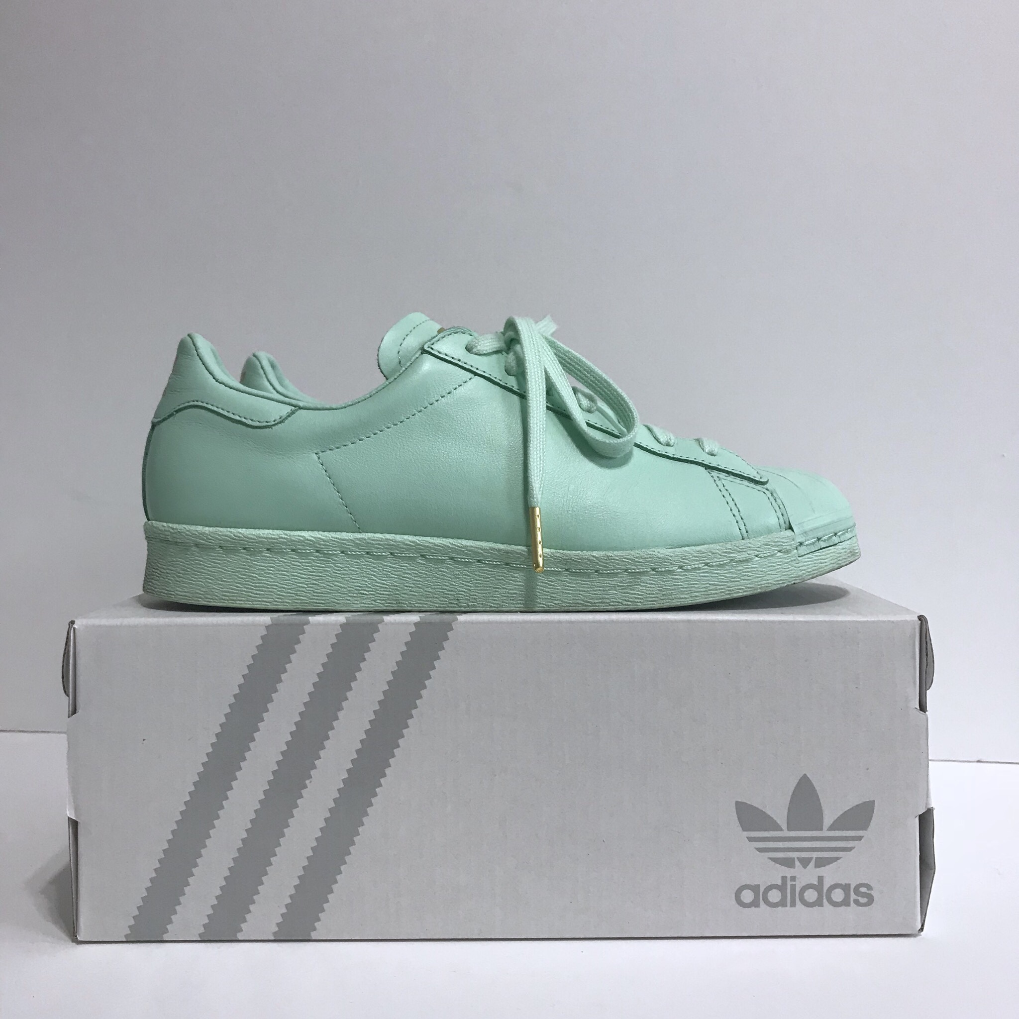 new arrivals 8f928 95539 Adidas Stan Smith Mint Pastel Custom shoes with all... - Depop