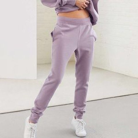 8f7999a4d89b Champion Reverse Weave Jogger Pant in LAVENDER size small a - Depop