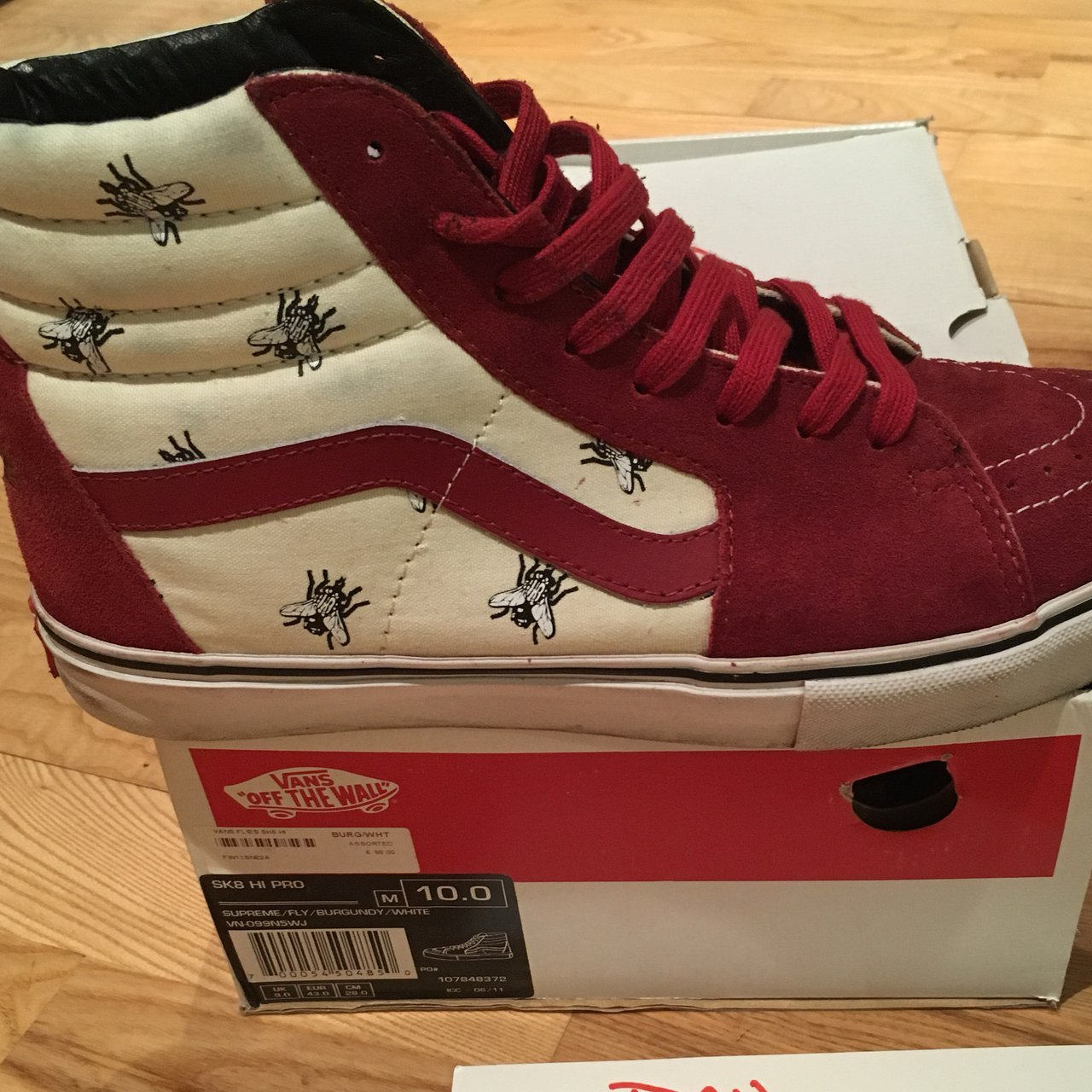 3c2ad5455ca092 Supreme x vans  flies  sk8-hi Uk 9 Worn but in good for age - Depop