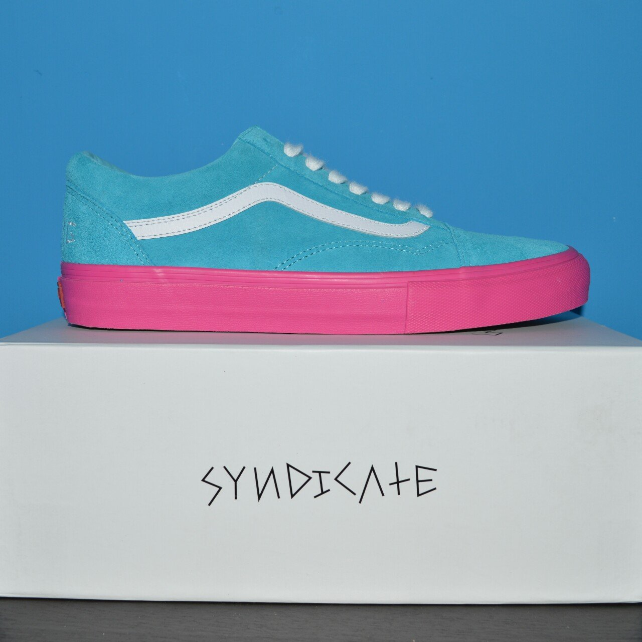 c9daf0aedb60 Golf Wang 2nd edition Syndicates. Blue Pink soles. Shoes up. - Depop
