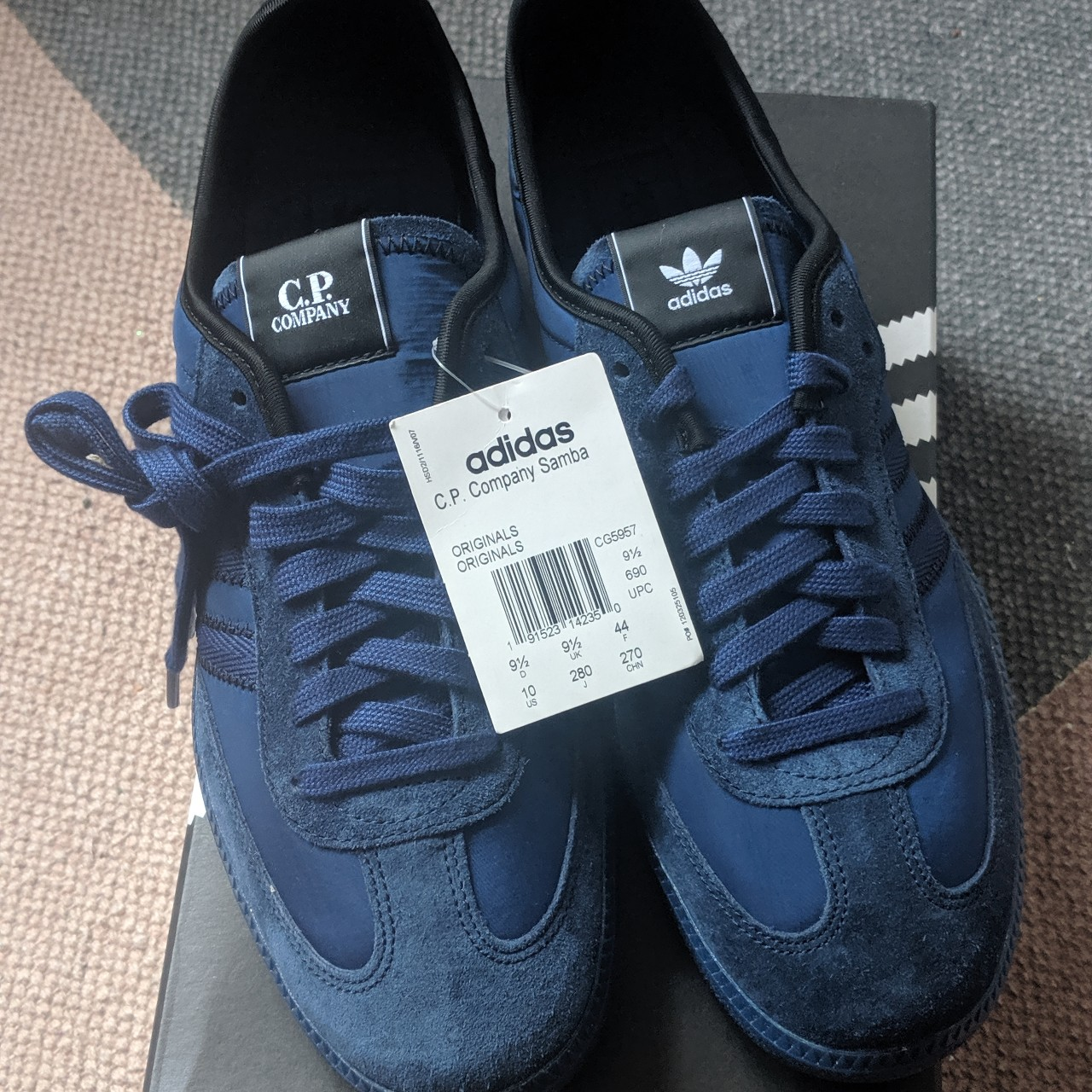on sale 1f075 289e8 Adidas X CP Company Men's Samba Blue. Size UK... - Depop