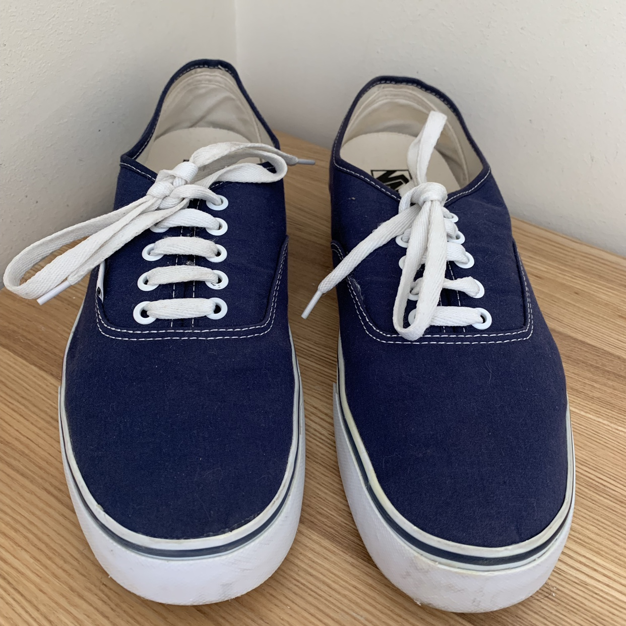Mens blue Vans Off the Wall shoes, in