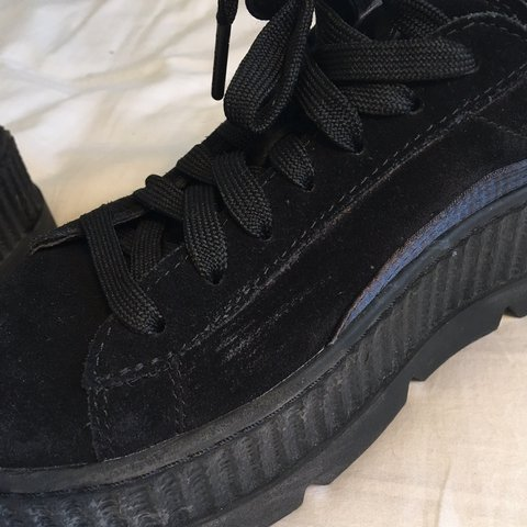 944763df015 Fenty Puma Suede Cleated Creepers in size 5   black. Bought - Depop