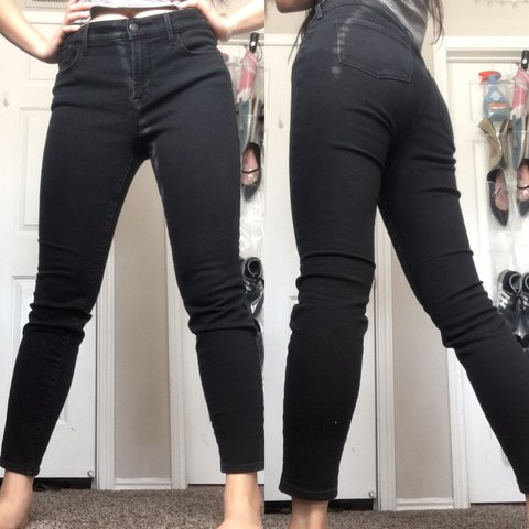 619ce2079f2a42 @abui43. last month. San Marcos, United States. Mid rise solid black  jeggings. Super soft and stretchy.