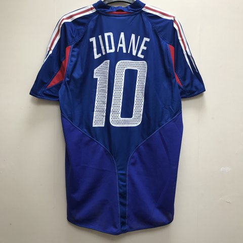 7157eb700 France World Cup 2006 Zinedine Zidane Adidas Football shirt. - Depop