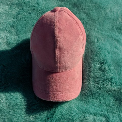 58dfbd39a Fuzzy Pink hat from Forever 21 Has a few stains from wear in - Depop