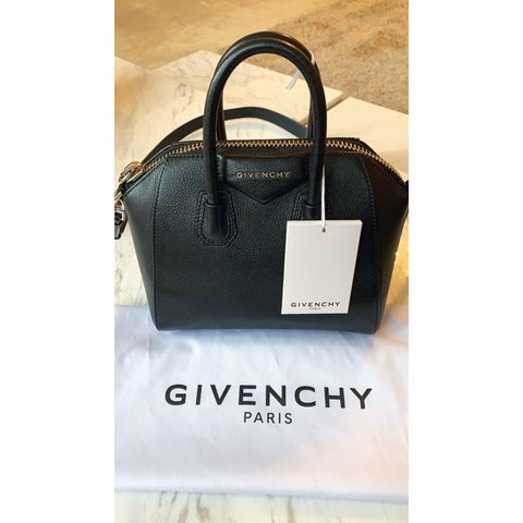 67da6e9de Authentic Givenchy Antigona Mini Textured black Leather Tote - Depop