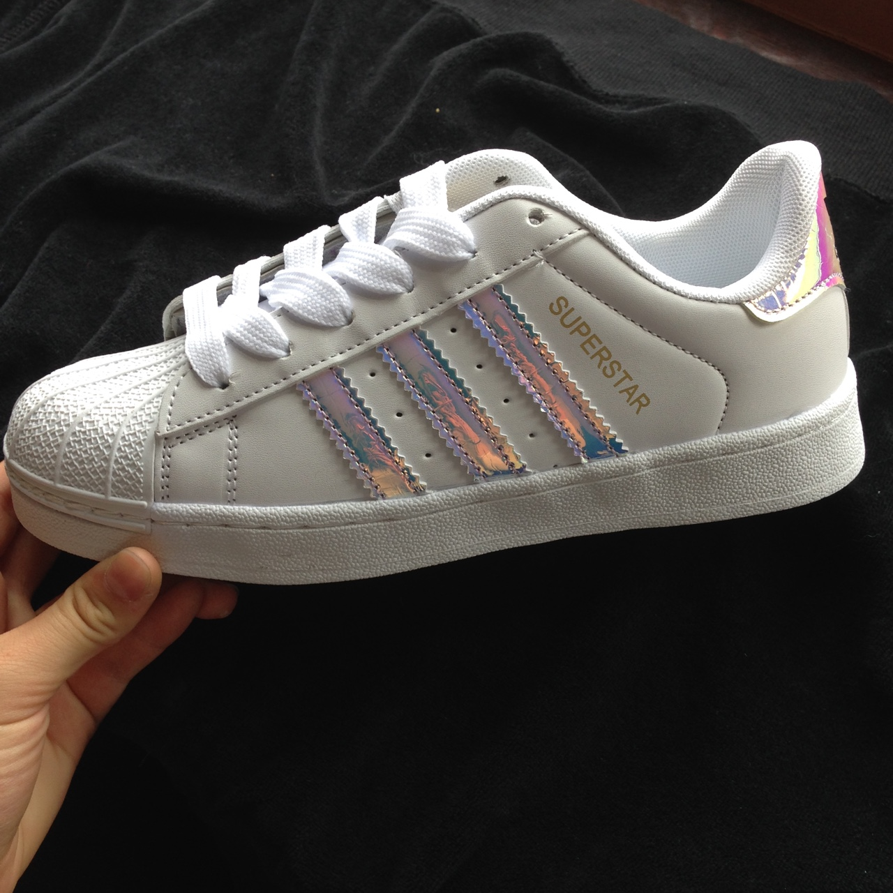 low priced dda68 4aee3 Awesome adidas superstar shoes with holographic... - Depop