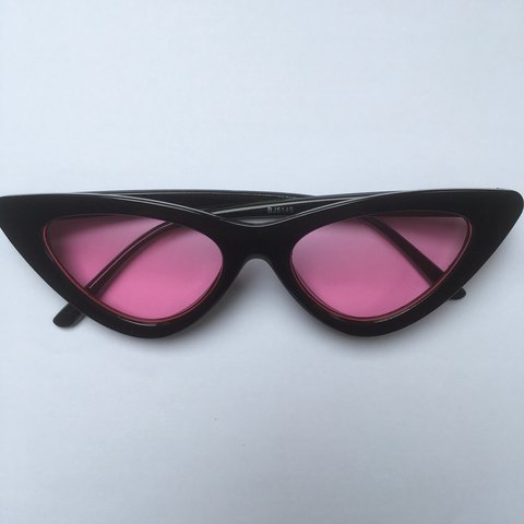 849315799acb2 Selling cateye black frame glasses with pink lenses. Also of - Depop
