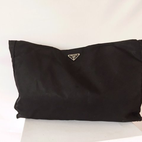 Classic Nylon Black Prada Tote bag- Unisex. Some signs of on - Depop 575e296a37062