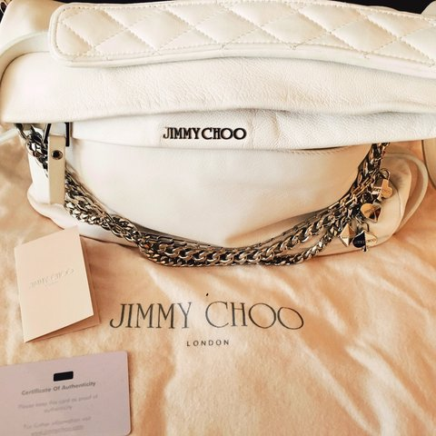 813cfd7bf3c Jimmy choo bag. Model biker small crossbody bag. White Comes - Depop