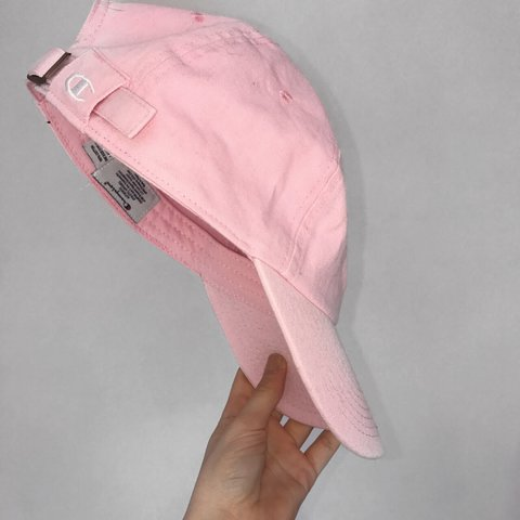 b74edee29e7 Genuine vintage CHAMPION pink baseball cap perfect for   to - Depop