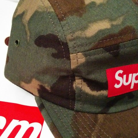 e022965e4f3 Supreme SS15 Painted Camo Camp cap DSWT Purchased from the a - Depop