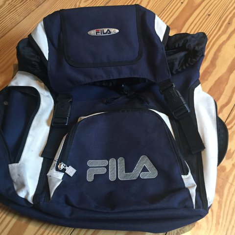 Vintage fila backpack  fila  backpack  vintagebag - Depop