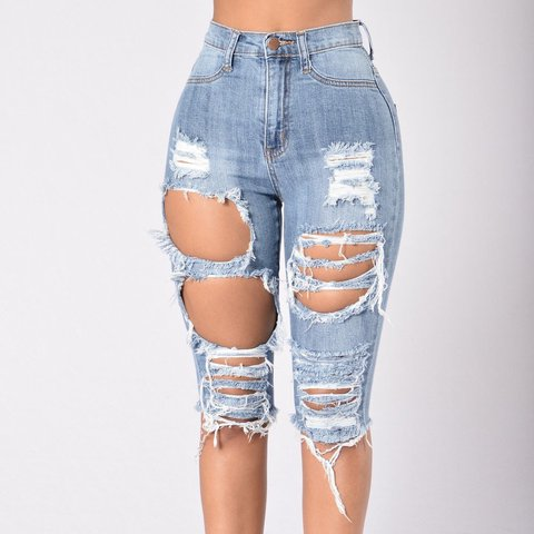 "e0f5f0e714 @shanhylton. last year. Birmingham, United Kingdom. Brand new Fashion Nova "" Lost at sea"" denim shorts."