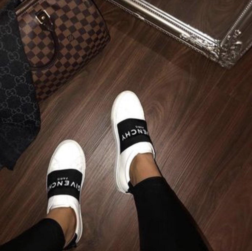 X2 GIVENCHY PARIS STRAP SNEAKERS IN