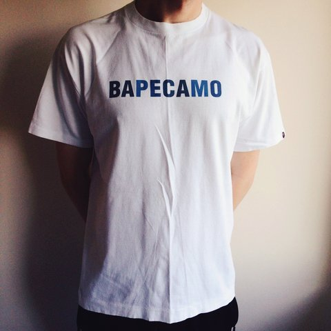 4213c780 @adamberry1984. 4 years ago. London, UK. Bathing Ape blue camo t-shirt # bathingape #bape ...