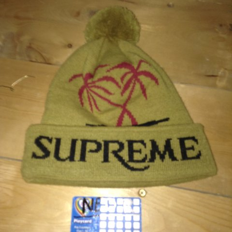 5d446516 Supreme oasis beanie, only tried on a few times, could pass - Depop