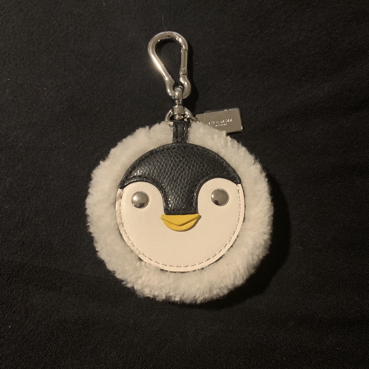 Adorable Fuzzy Penguin Keychain From Coach Never Depop